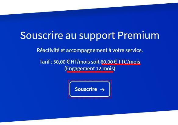 ovh support premium arnaque